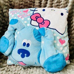 NWOT Hello Kitty X Blue's Clues Throw Pillow